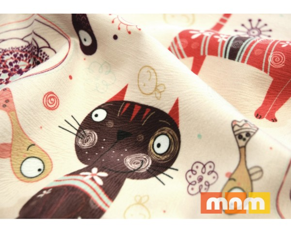 Обивочная ткань Кетс (cats) - Принт, Mebeltex