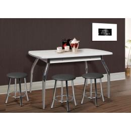 Раздвижной стол на металлических гнутых опорах