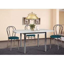 Раздвижной стол на металлических прямых опорах